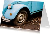 Rijbewijs Auto vintage blauw