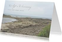rouwkaart grillig strand