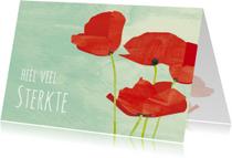 Rouwkaart kleurrijk met klaproos