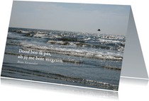 Rouwkaart zee en vogel