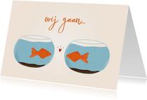 Samenwoonkaartje twee vissen in een kom