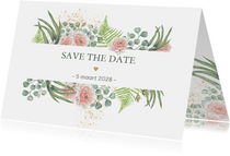 Save the date botanische rozen