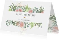 Save the date botanische rozen