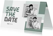 Save-the-Date-Karte Hochzeit Design abstrakt eigene Fotos