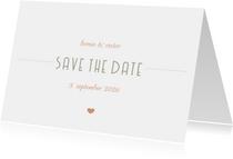 Save-the-Date-Karte Hochzeitsdatum moderne Klassik