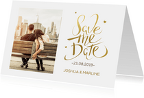 Save the Date Kerstkaart met foto