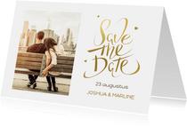 Save the Date Kerstkaart met foto