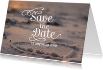 Save the date strand met hart