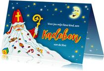 Sinterklaas met baard kadobon