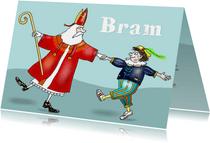 Sinterklaas - Sint en Piet dansend