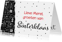 Sinterklaaskaart handlettering