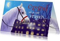 Sinterklaaskaart uitnodiging met paard