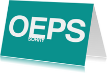 Sorry Oeps
