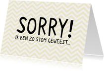 Sorry kaarten - Sorry zig zag patroon