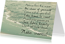 Spreukenkaart Advice from the ocean