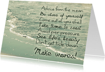 Spreukenkaart Advice from the ocean