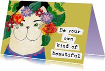Spreukenkaart kat beautiful