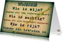 Spreukenkaart wijsheid IW