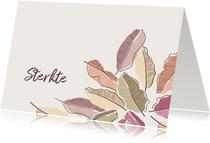 Sterkte kaart bladeren warm