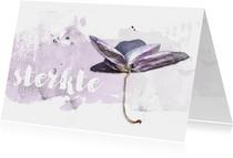 Sterkte kaart orchidee soft lila