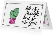 Sterkte kaartje cactus - ST