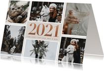 Stijlvolle fotokaart kerst groot 2021 en fotocollage