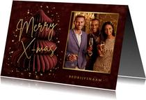 Stijlvolle internationale engelstalige zakelijke kerstkaart