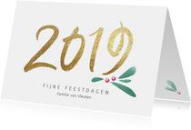 Stijlvolle kerstkaart 2019 kerst takje