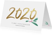 Stijlvolle kerstkaart 2020 kerst takje