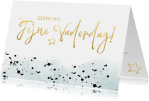 Stijlvolle moderne vaderdagkaart met gouden letters