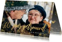 Stijlvolle uitnodiging huwelijksjubileum 60 jaar met goud