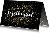 Stijlvolle uitnodiging kerstborrel met confetti