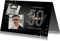 Stijlvolle uitnodiging verjaardag 50 jaar foto's en spetters
