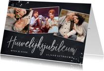 Stijlvolle uitnodiging zilveren huwelijksjubileum - 25 jaar