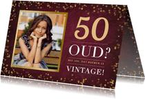 Stijlvolle verjaardagskaart 50 jaar - oud of vintage?