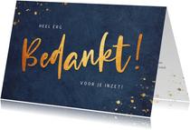Stijlvolle zakelijke kerstkaart bedankkaart medewerkers