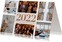Stijlvolle zakelijke kerstkaart fotocollage en grote 2022