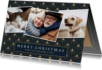 Stilvolle Weihnachtskarte mit 3 eigene Fotos