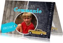 Stoere kaart voor communie - DH