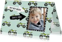 Stoere motor verjaardagskaart