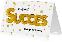 Succes examen ballon goud confetti
