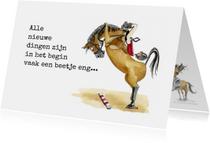 Succes kaarten  springend paard
