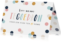 Tegoedbon voor een high tea at home