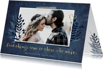 Terminänderung Hochzeit dunkelblau Foto