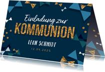 Trendy Einladung zur Kommunion mit Fotos innen