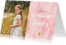 Trendy Glückwunschkarte mit Foto für Mädchen