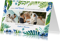 Tropical Bedankt Bruiloft