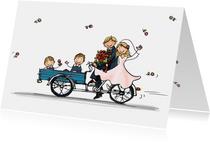 Trouwkaart Bakfiets kinderen2