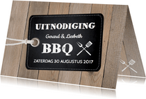 Tuinfeest uitnodiging hout label