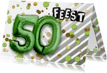 Uitnodiging 50 ballon groen